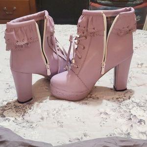 New lavender Lolita booties